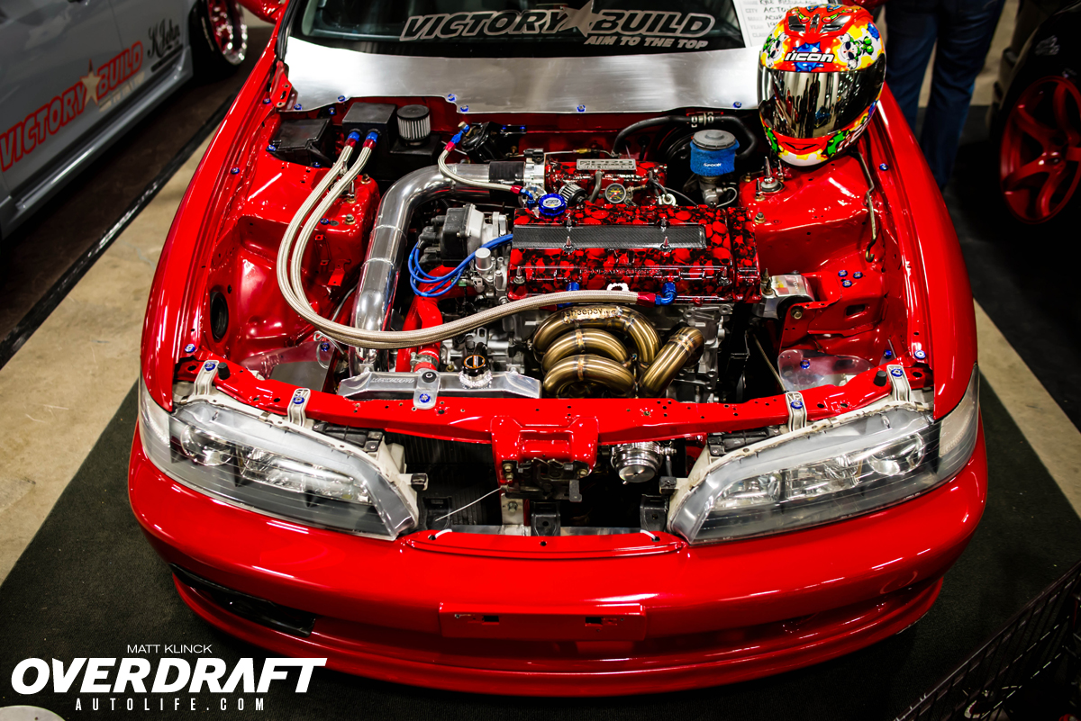 Megaspeed Red Drag Integra Engine Bay